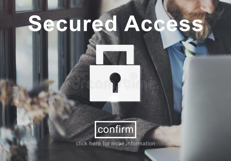 Concept fixé de coffre-fort de sécurité de protection d'Access image stock