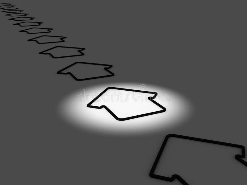 Concept foncé bien choisi de Chambre illustration libre de droits