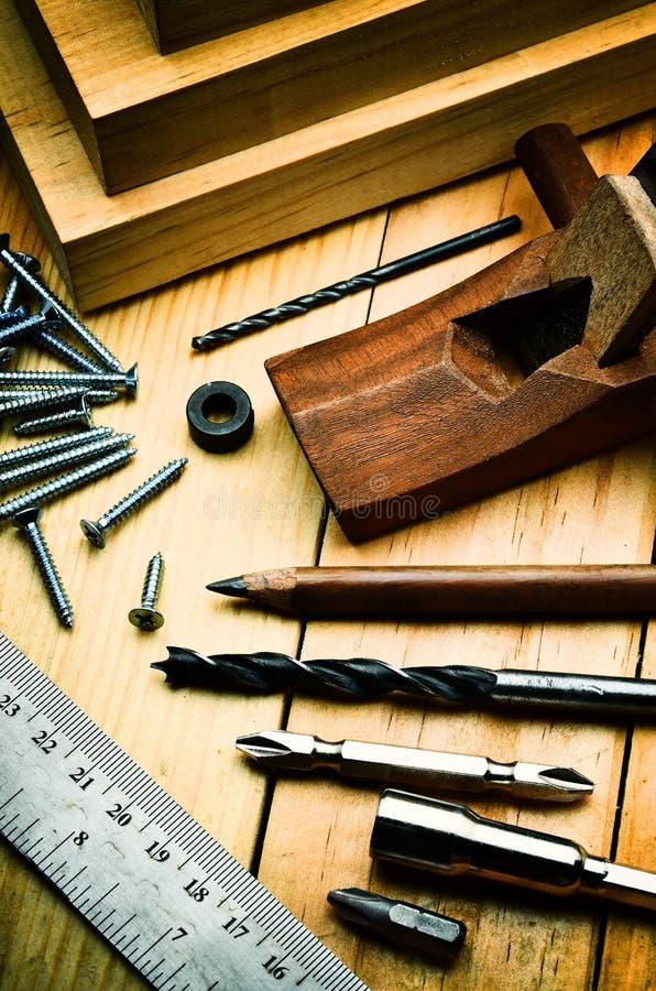 Concept fonctionnant en bois photographie stock
