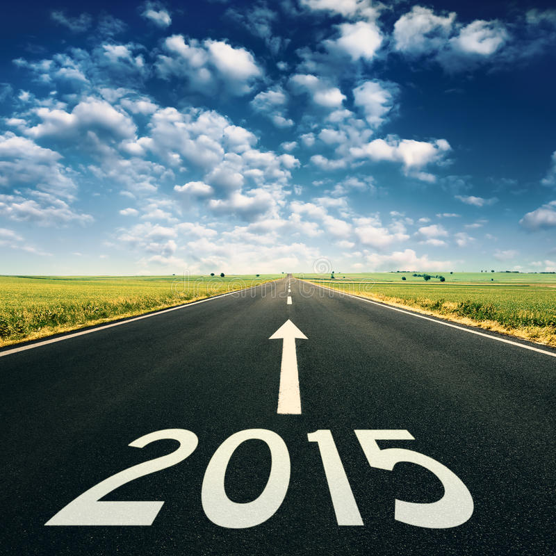 Concept - Forward to 2015 new year royalty free stock photo