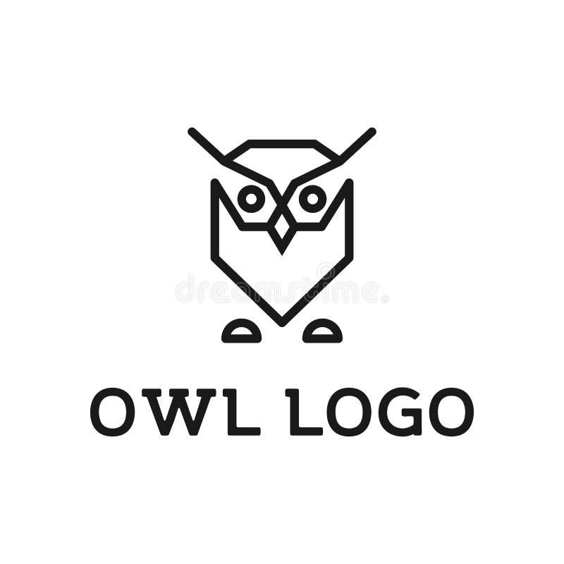 Concept frais unique minimaliste de logo de hibou illustration stock