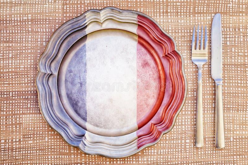 Concept français de cuisine photographie stock libre de droits