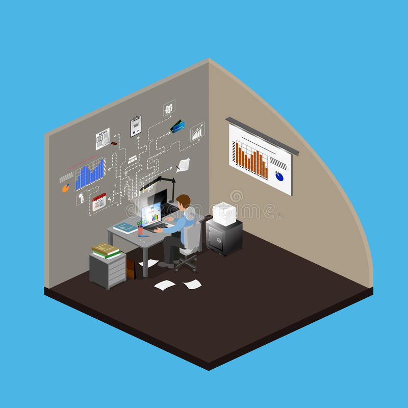 Concept Freelancer vector illustration