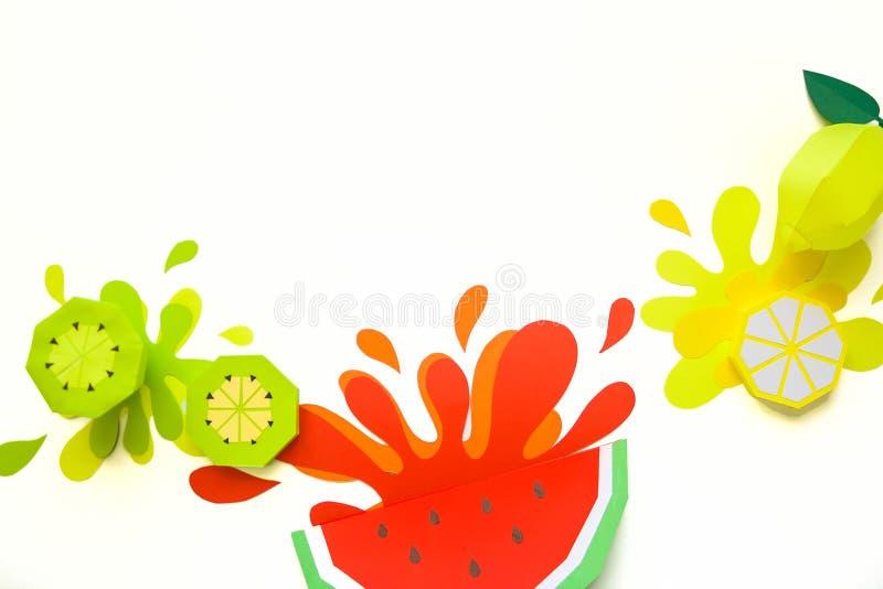 Concept fruit juice, element reklama. Splash from watermelon royalty free stock photo