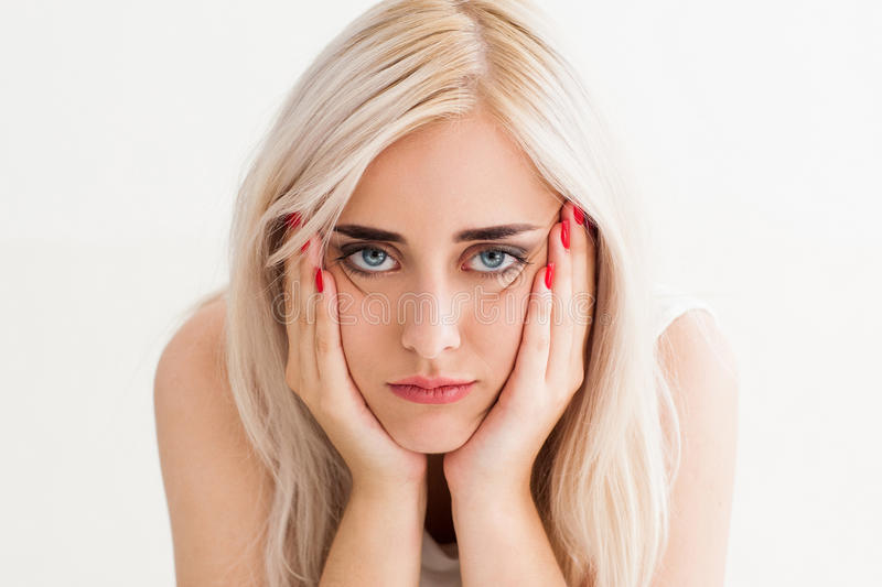 The concept of frustration,fatigue, sadness stock photo
