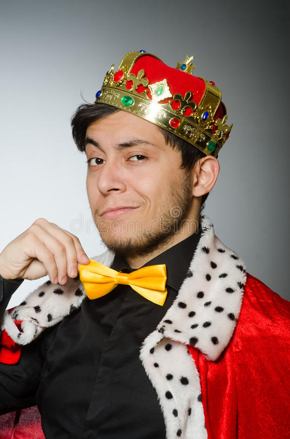 Concept with funny man royalty free stock photos