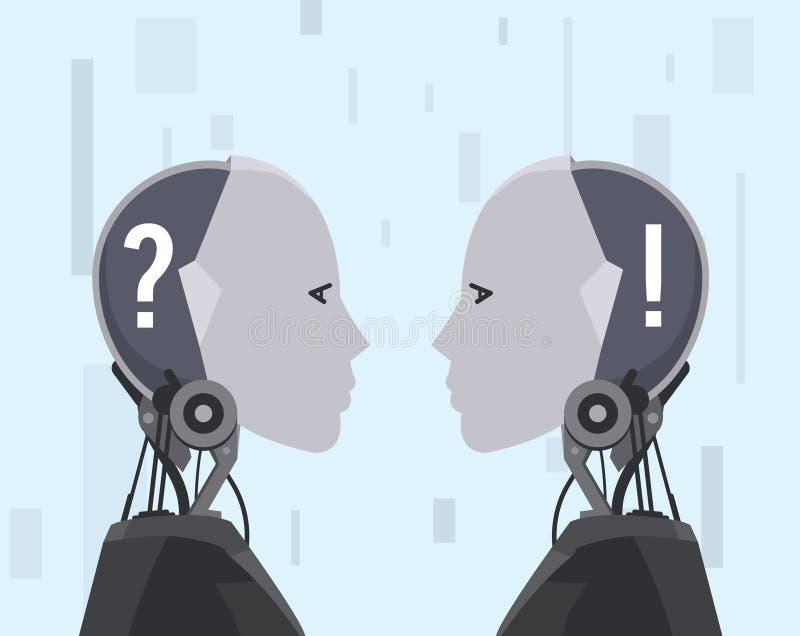 Concept futuriste de résolution des problèmes d'AI illustration stock