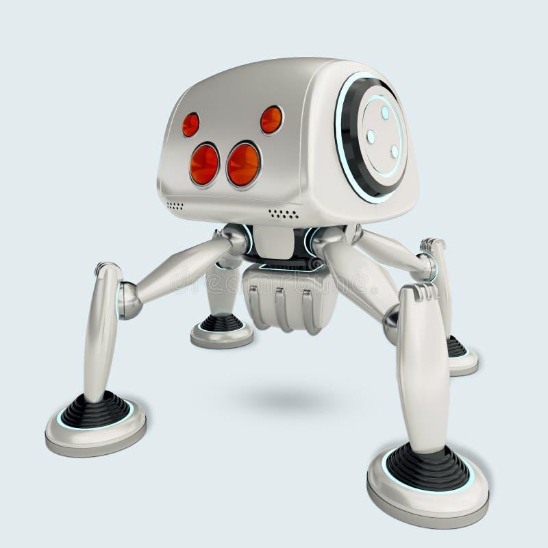 Download Concept Futuriste De Spiderbot Illustration Stock - Illustration du androïde, machine: 77159271