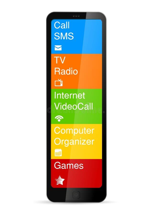 Concept futuriste de téléphone portable. illustration de vecteur