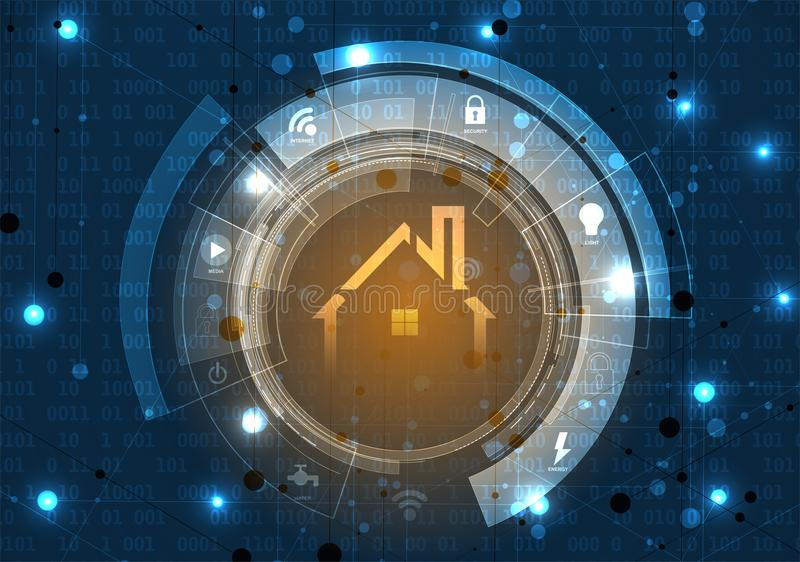 Concept futuriste de technologie à la maison futée pour le fond d'affaires illustration libre de droits