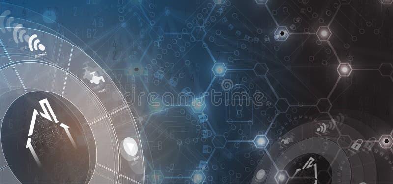 Concept futuriste de technologie à la maison futée pour le fond d'affaires illustration de vecteur