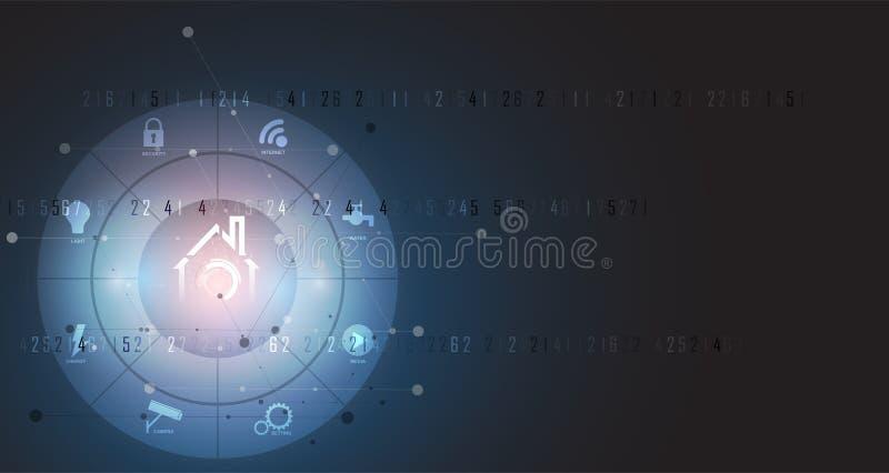 Concept futuriste de technologie à la maison futée pour le fond d'affaires illustration stock