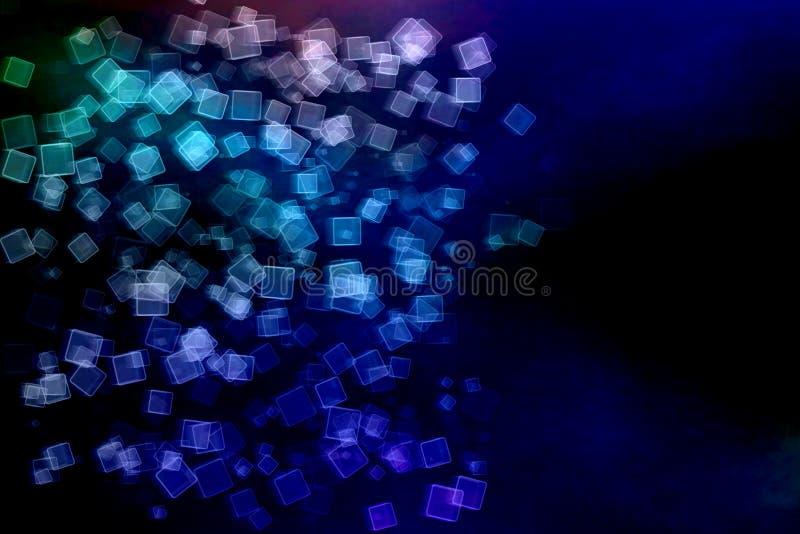Concept futuriste de technologie de Blockchain Le cube en rectangle de Digital bloque la connexion avec d'autres avec le secteur  illustration de vecteur