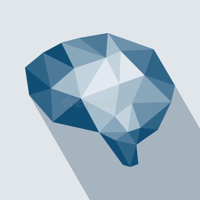 Concept géométrique polygonal d'esprit humain illustration libre de droits