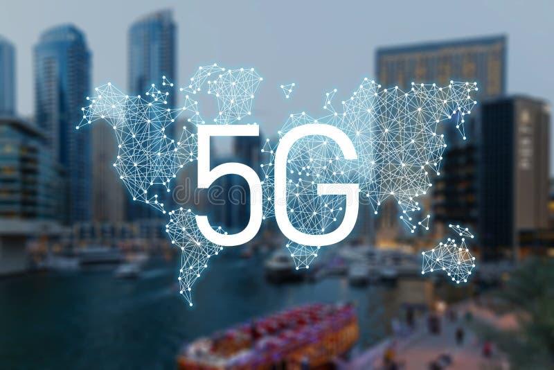 concept 5g de technologie de connexion internet illustration stock