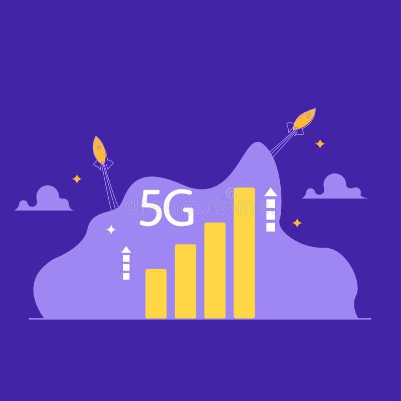 Concept 5G-Internetverbinding royalty-vrije illustratie