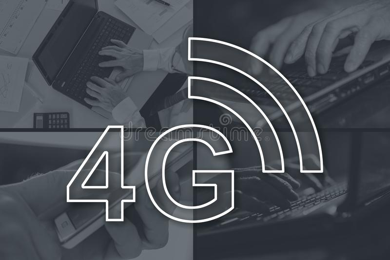 Concept of 4g network stock photos