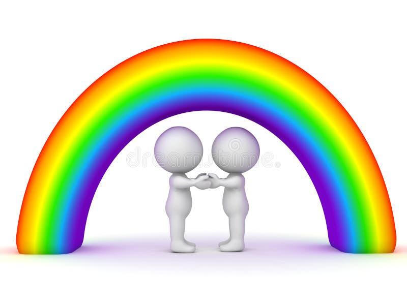 concept gai d'acceptation de la tolérance 3D illustration stock