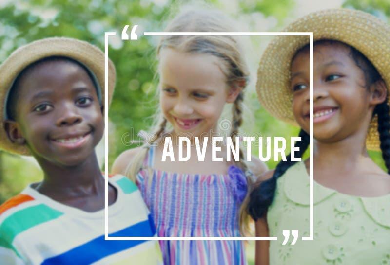 Concept gai de bonheur de vacances de voyage d'aventure photographie stock libre de droits