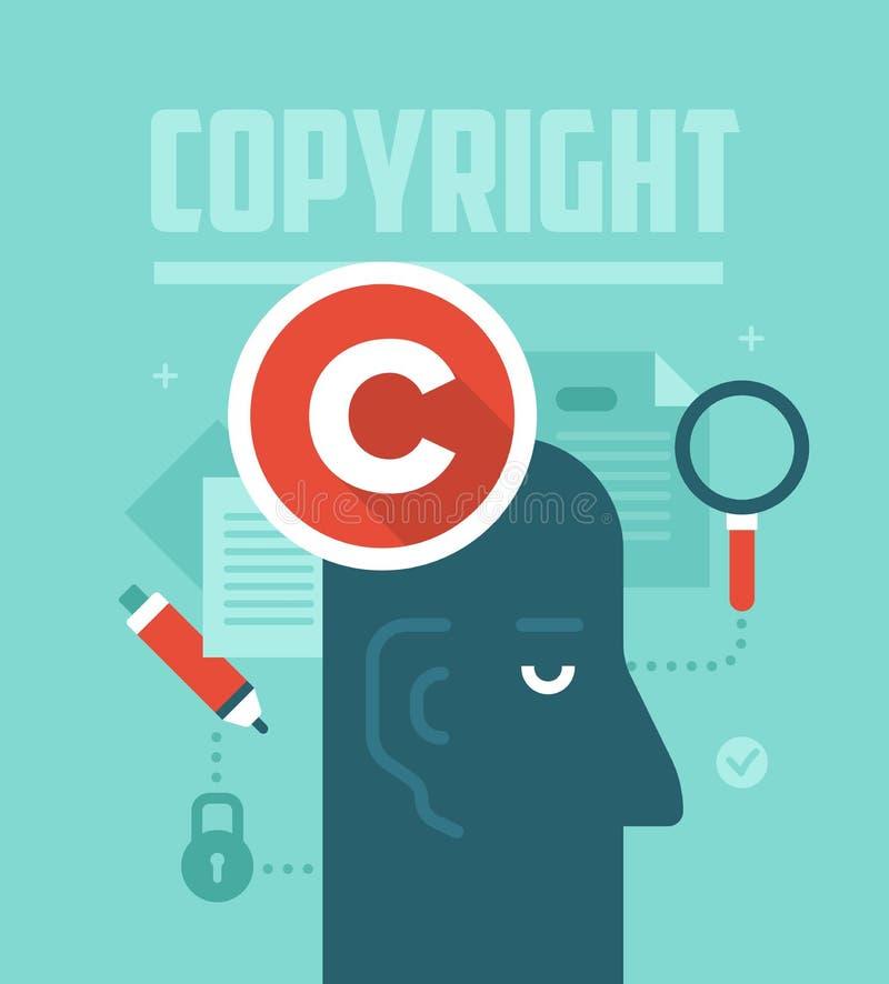 Concept garantissant les droits d'auteur illustration stock
