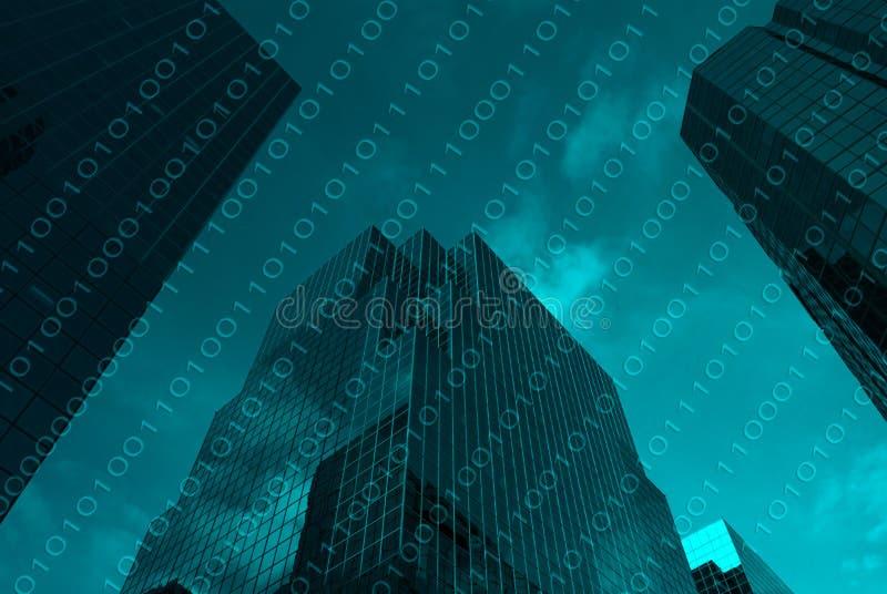 Concept Geavanceerd technisch District in Major City vector illustratie