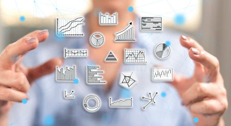 Concept gegevensanalyse stock foto's
