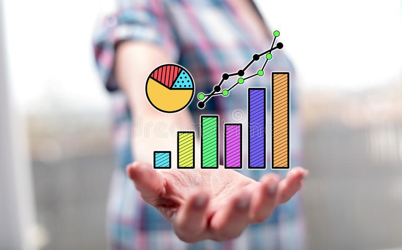 Concept gegevensanalyse stock afbeelding