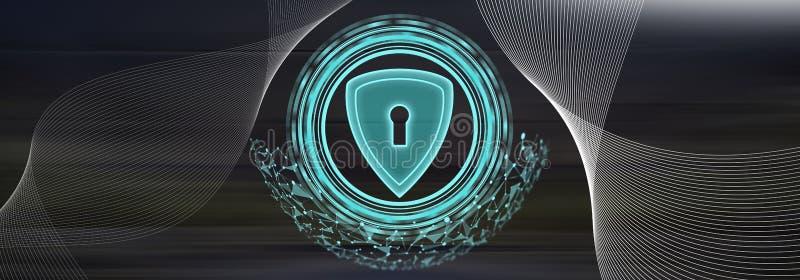 Concept gegevensbeveiliging stock illustratie