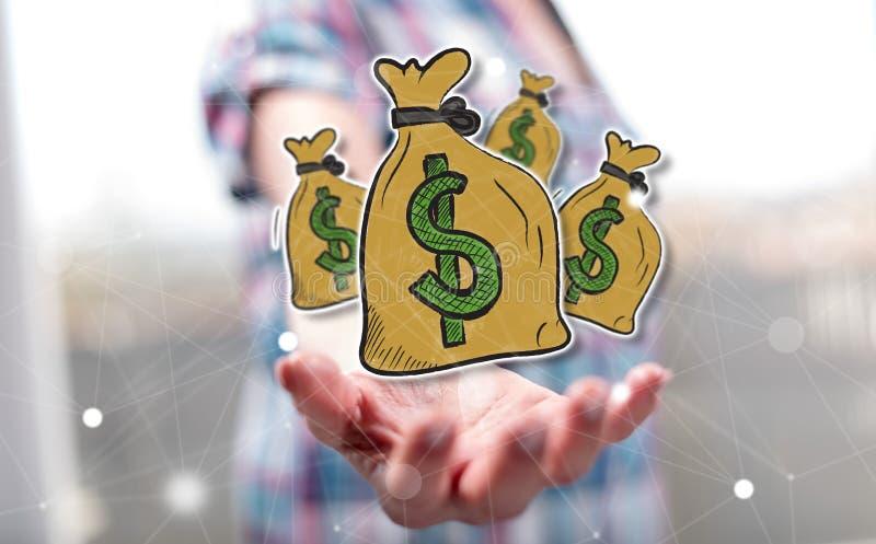Concept geld royalty-vrije stock afbeeldingen