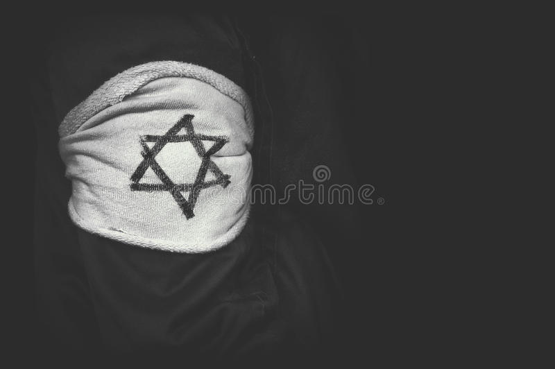 The concept of the genocide of the Jews stock photography