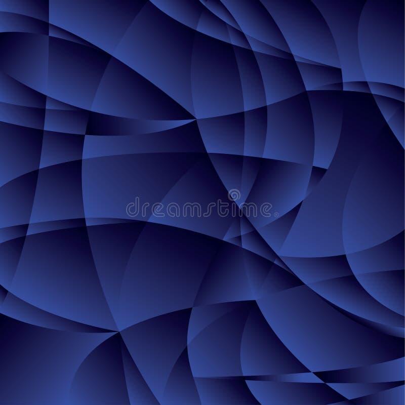 Concept geometric night blue background stock illustration