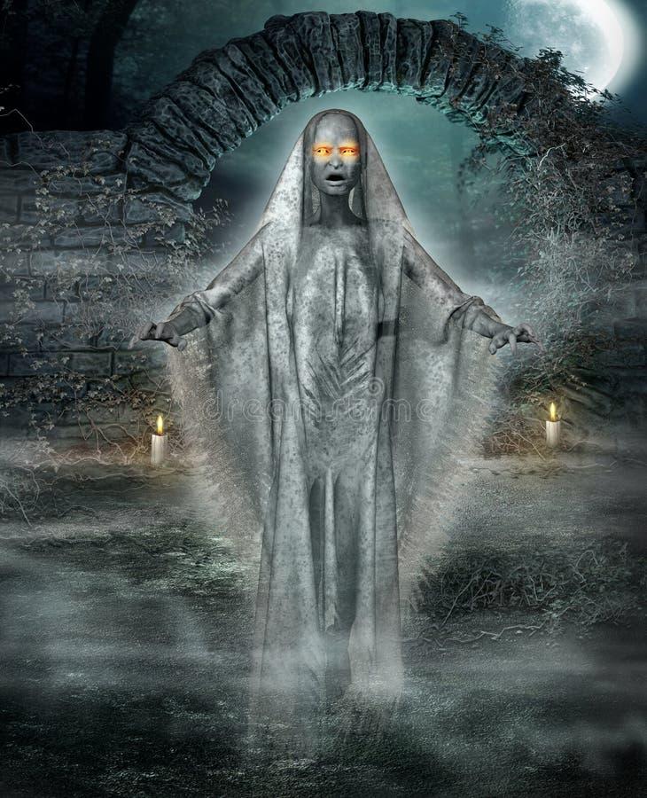 Concept Ghost de Halloween illustration de vecteur