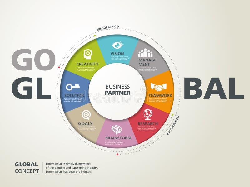 concept global illustration stock