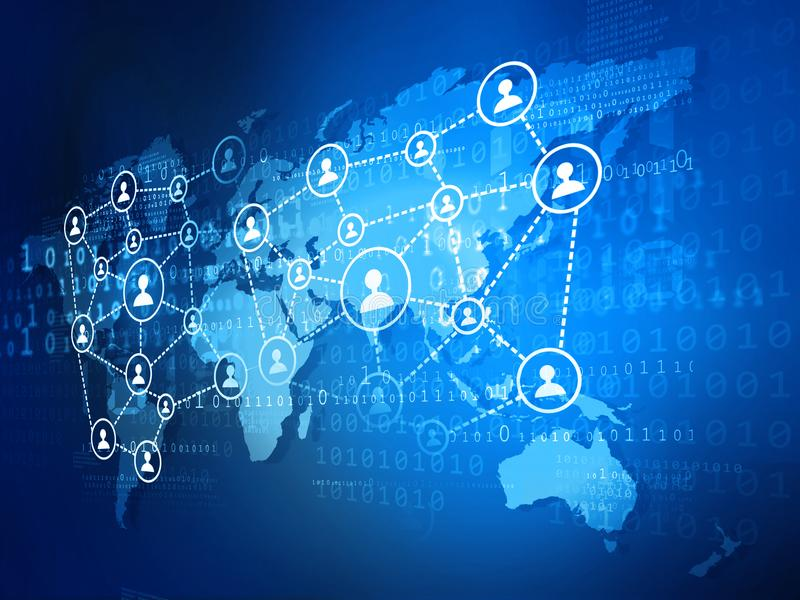 Global business network. Concept of global business network stock illustration