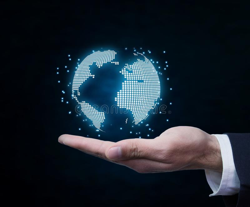 Concept of global connection and networking. stock photography