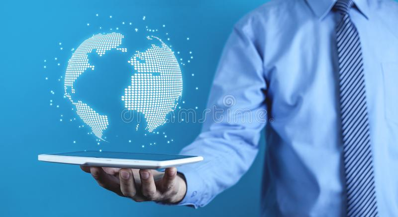 Concept of global connection and networking royalty free stock image