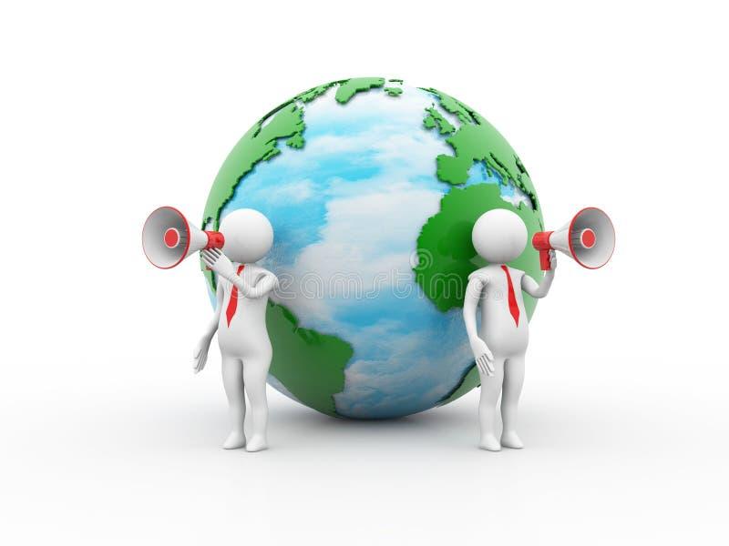 Concept global d'annonce 3d rendent illustration libre de droits