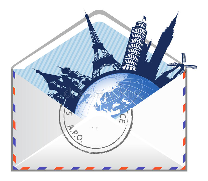 Concept global d'email. illustration libre de droits