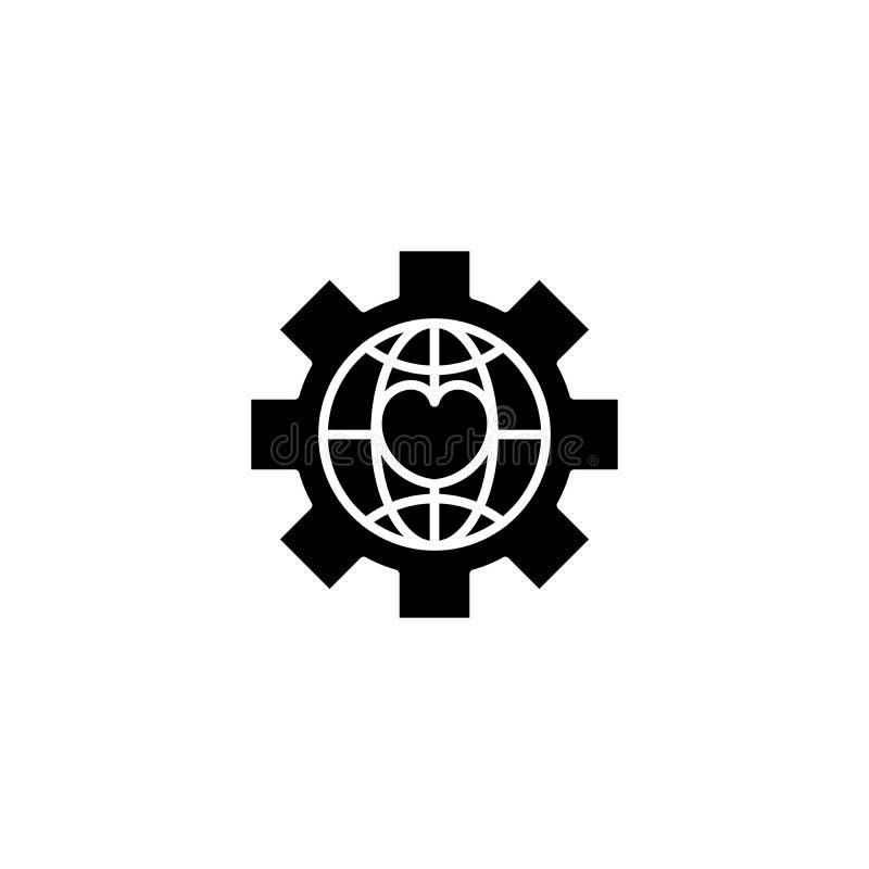 Concept global d'icône de noir de npo Symbole plat global de vecteur de npo, signe, illustration illustration de vecteur