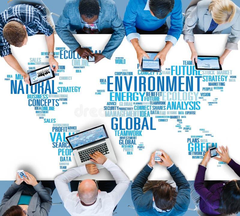 Concept global de carte du monde de durabilité naturelle d'environnement photo stock