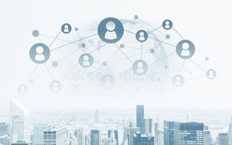 Concept global de gestion de réseau illustration libre de droits