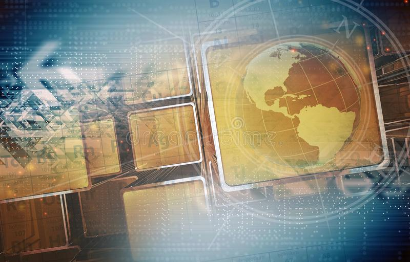 Concept global de la Science illustration libre de droits