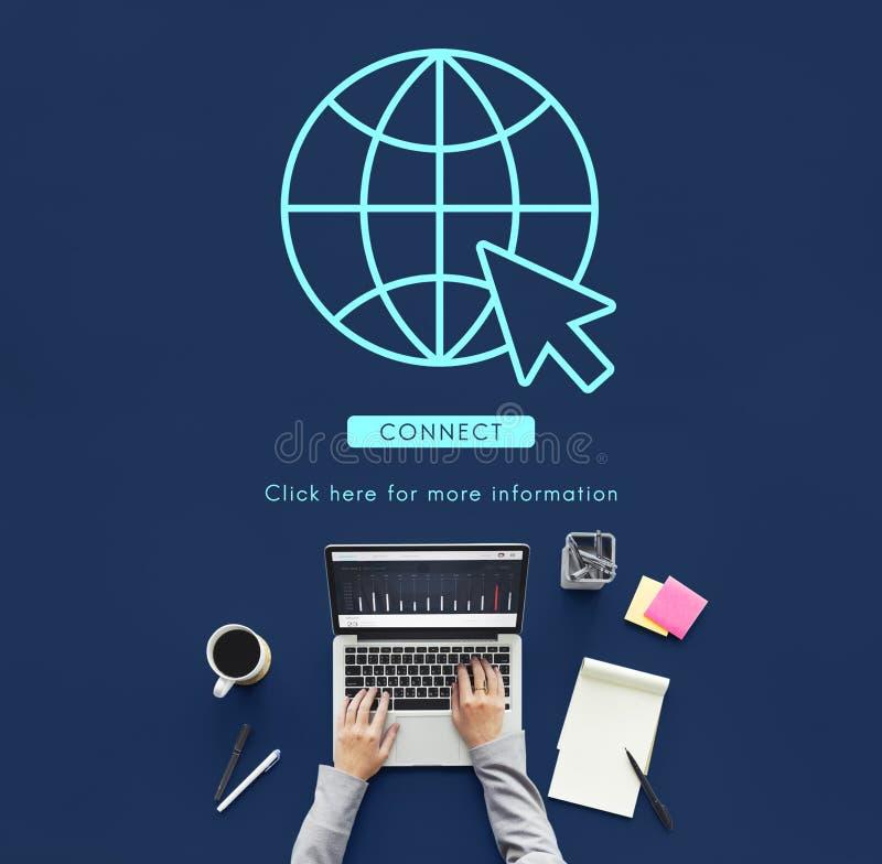 Concept global de technologie de connexion réseau image libre de droits