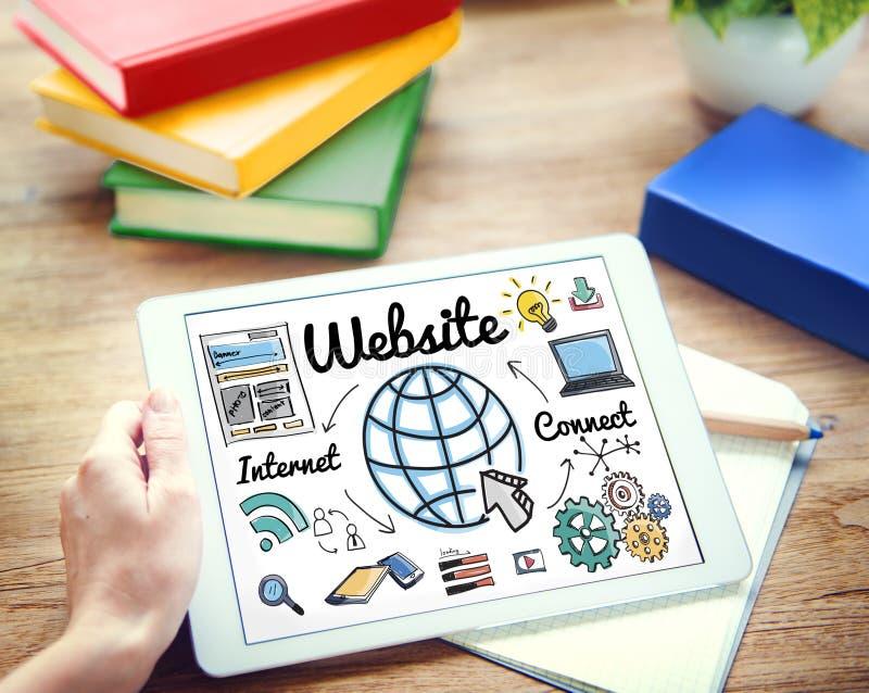 Concept global de technologie en ligne de WWW de site Web photo stock