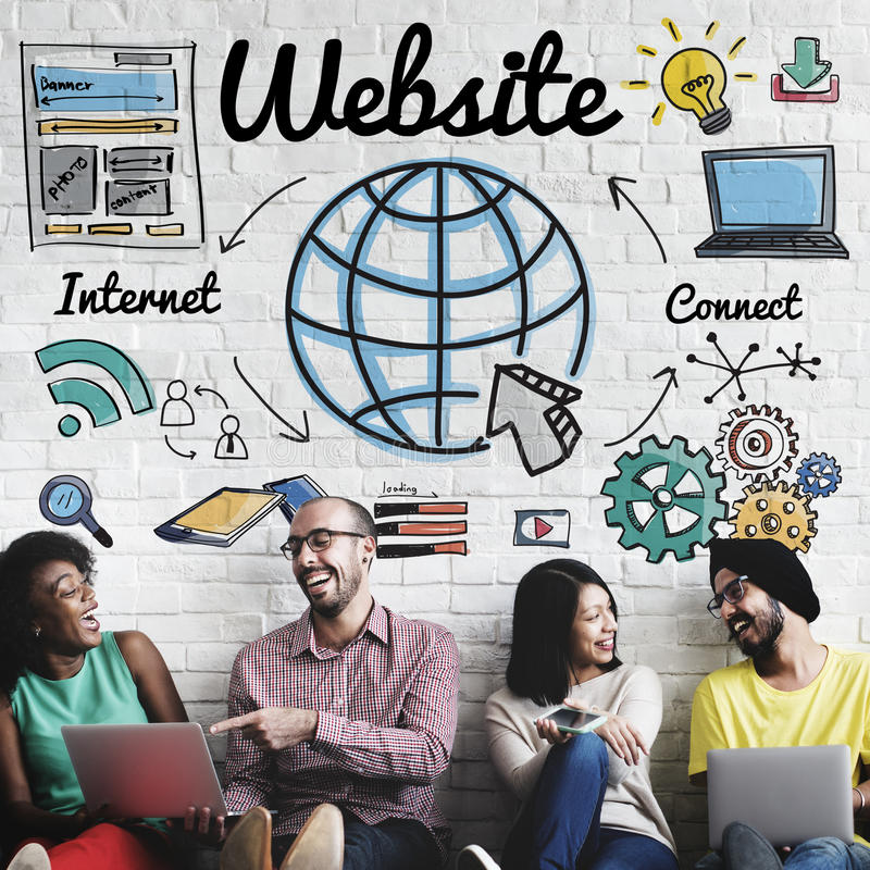 Concept global de technologie en ligne de WWW de site Web photographie stock