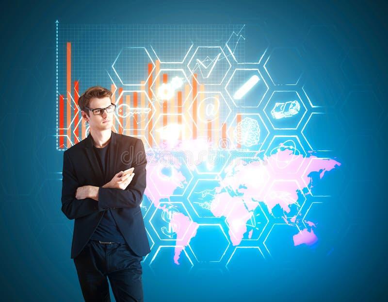 Concept global de technologie et d'innovation images libres de droits