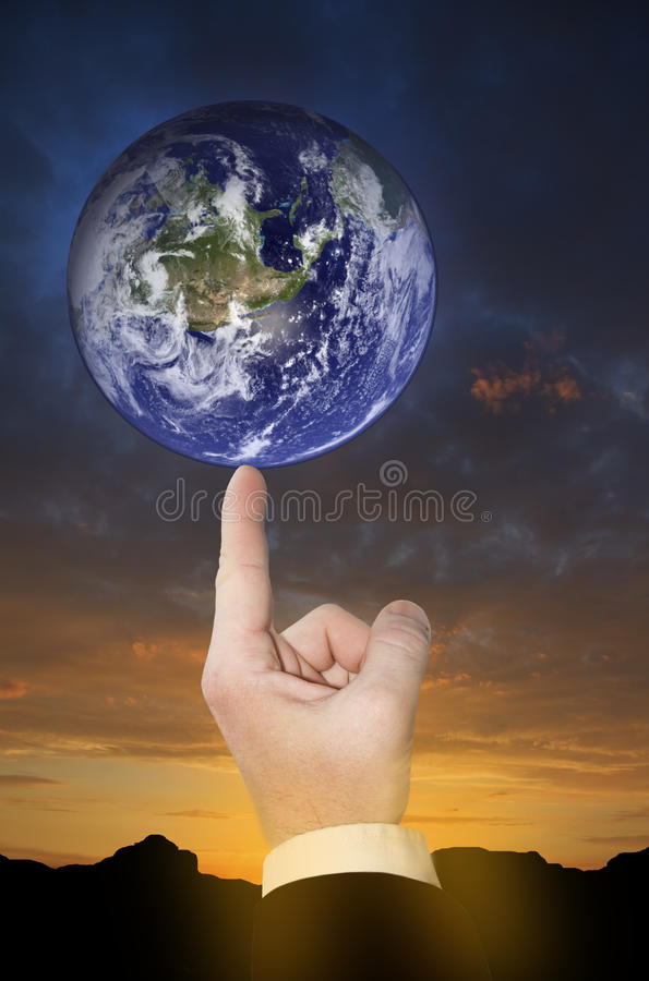 Concept of global environment. stock photography