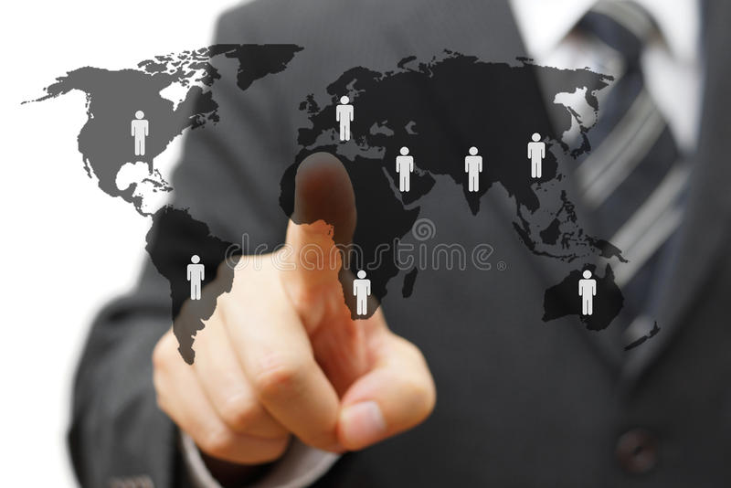 Concept of global market with partners around the world.  stock photography
