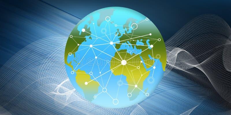 Concept globale aansluting royalty-vrije illustratie