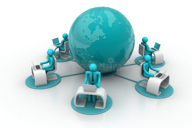 Concept globale bedrijfsmededeling vector illustratie